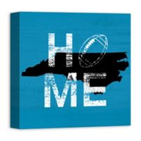 Designs Direct North Carolina State Pride 16-Inch Square Canvas Wall Art in Blue