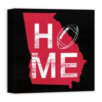 Designs Direct Georgia State Pride 16-Inch Square Canvas Wall Art in Red