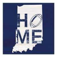 Designs Direct Indiana State Pride 16-Inch Square Canvas Wall Art in Blue