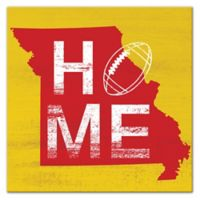 Designs Direct Missouri State Pride 16-Inch Square Canvas Wall Art in Yellow