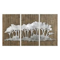 Uttermost 3-Piece Safari Views 32-Inch x 54-Inch Wood/Metal Wall Art