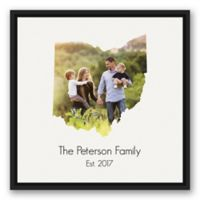 Designs Direct Ohio Family 21.75-Inch Square Framed Wall Art
