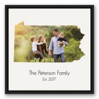Designs Direct Pennsylvania Family 20-Inch Square Canvas Wall Art with Black Floating Frame
