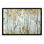 Birch in the Fog II 38-Inch x 26-Inch Framed Canvas Wall Art