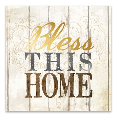 Bless this Home  Printed Canvas Wall Art  sc 1 st  Bed Bath u0026 Beyond & Buy Bless This Home from Bed Bath u0026 Beyond
