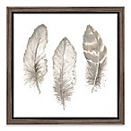 Feathers 18-Inch Square Framed Wall Art