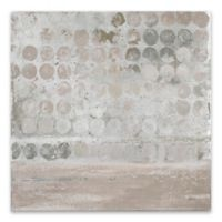 Neutral Dots 27-Inch Square Canvas Wall Art