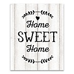 """Home Sweet Home"" 16-Inch x 20-Inch Canvas Wall Art"