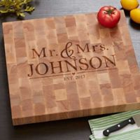 The Wedding Couple Butcher Block Cutting Board