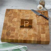 Classic Butcher Block Monogrammed Cutting Board