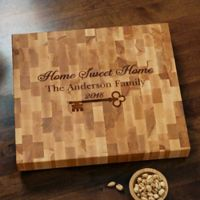 Key to Our Home Butcher Block Cutting Board