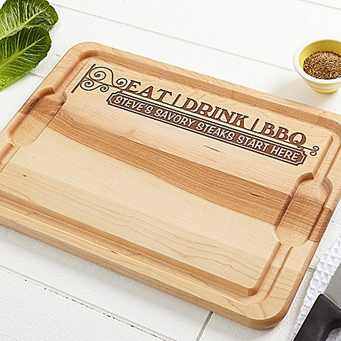 image of Eat, Drink & BBQ XL 15-Inch x 21-Inch Cutting Board