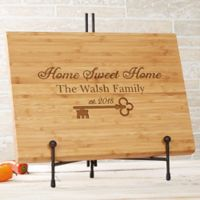 Key to Our Home 10-Inch x 14-Inch Personalized Bamboo Cutting Board
