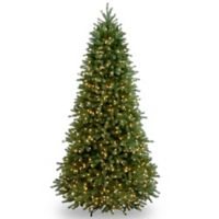 National Tree Company 6.5-Foot Pre-Lit Jersey Fraser Slim Fir Christmas Tree with Clear Lights