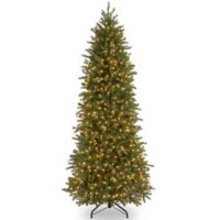 National Tree Company 9-Foot Pre-Lit Jersey Fraser Fir Pencil Slim Christmas Tree with Clear Lights