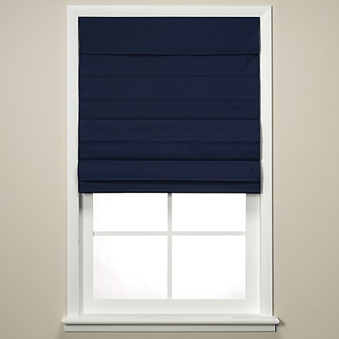 insola chatham cordless roman cellular shade in navy bed bath beyond. Black Bedroom Furniture Sets. Home Design Ideas