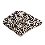 Pillow Perfect New Damask Chair Pad in Brown