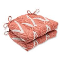 Pillow Perfect Bali Chair Pads in Orange (Set of 2)