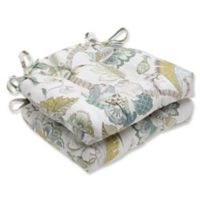 Pillow Perfect Finders Keepers Chair Pads In Blue Set Of 2