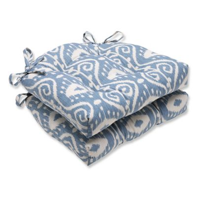 Superieur Pillow Perfect Empire Chair Pads In Blue (Set Of 2)