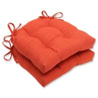 Pillow Perfect Pure Shock Chair Pads in Orange (Set of 2)