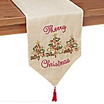 3 Ribboned Tree 72-Inch Table Runner in Gold