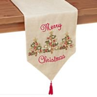 3 Ribboned Tree 90-Inch Table Runner in Gold