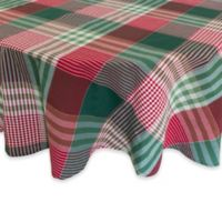 Holiday Check 70-Inch Round Tablecloth