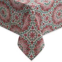 Christmas Folk 60-Inch x 120-Inch Oblong Tablecloth