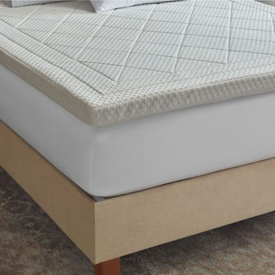 therapedic quilted deluxe 3inch memory foam full bed topper