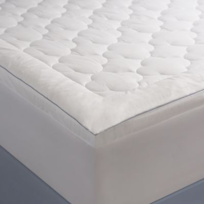 allied home climate cool queen mattress pad in white