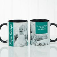 Family Love 11 oz. Photo Collage Coffee Mug in Black