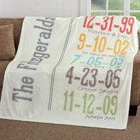 Milestone Dates 50-Inch x 60-Inch Fleece Throw Blanket