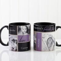 My Favorite Faces 11 oz. Photo Coffee Mug in Black