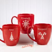 Holiday Cheer 14.5 oz. Red Bistro Mug