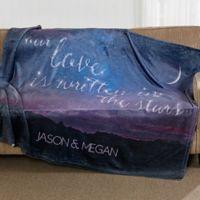 Written in the Stars Fleece Throw Blanket