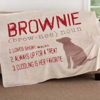 Definition Of My Dog 50-Inch x 60-Inch Fleece Throw Blanket