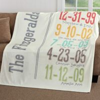 Milestone Dates 60-Inch x 80-Inch Fleece Throw Blanket