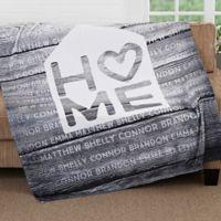 Home Is Love 50-Inch x 60-Inch Fleece Throw Blanket