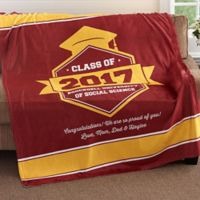 """Class Of..."" Graduation 50-Inch x 60-Inch Fleece Throw Blanket"