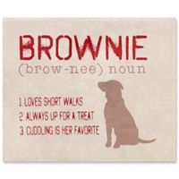 Definition of My Dog 60-Inch x 80-Inch Fleece Throw Blanket