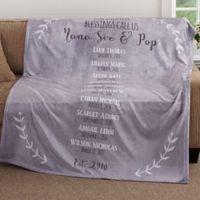 Our Grandchildren 50-Inch x 60-Inch Fleece Throw Blanket