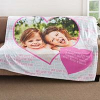 Love You This Much 50-Inch x 60-Inch Fleece Throw Blanket