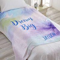 Watercolor Fleece Throw Blanket