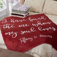 Romantic Expressions 60-Inch x 80-Inch Fleece Throw Blanket