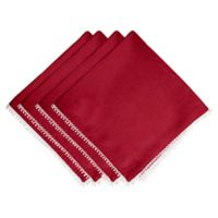 Lenox® French Perle Solid Napkins in Scarlet (Set of 4)