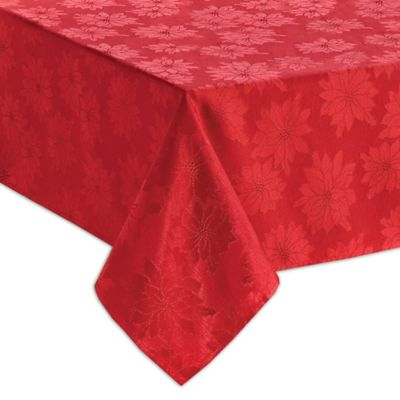 Bardwil Linens Winter Joy 60 Inch X 84 Inch Oblong Tablecloth In Red