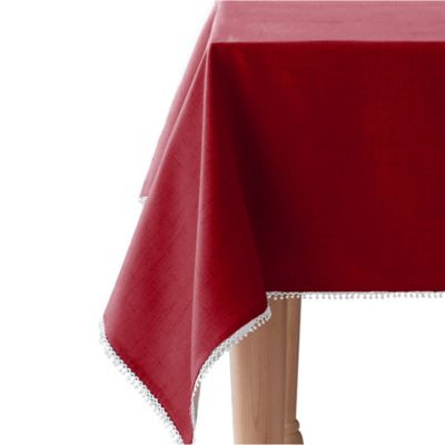 Lenox® French Perle Solid 60 Inch X 84 Inch Oblong Tablecloth In Scarlet