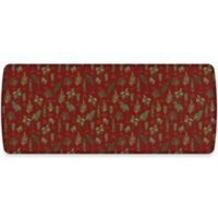GelPro® Elite Winter Greens 30-Inch x 72-Inch Kitchen Mat in Currant