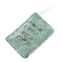 Morgan Home 2-Way Sequin Swimsuit Sack in Aqua/Silver